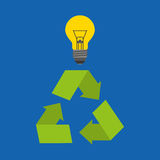 Recycle arrows symbol ecology. Illustration design Royalty Free Stock Photography