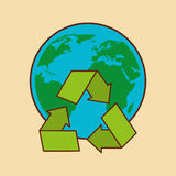 Recycle arrows symbol ecology. Illustration design Stock Photography