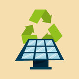 Recycle arrows symbol ecology. Illustration design Stock Images