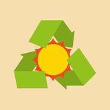 Recycle arrows symbol ecology. Illustration design Stock Image