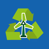 Recycle arrows symbol ecology. Illustration design Stock Photos