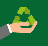 recycle arrows symbol ecology Royalty Free Stock Photography