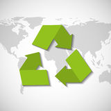 recycle arrows symbol ecology Stock Images
