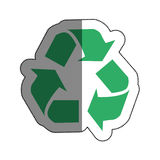 Recycle arrows symbol icon. Illustration design Stock Photography