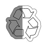 Recycle arrows symbol icon. Illustration design Stock Images