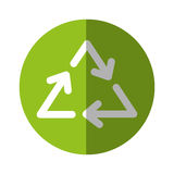 Recycle arrows symbol. Vector illustration graphic design Stock Images