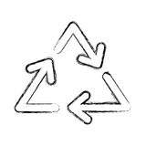 Recycle arrows symbol. Vector illustration graphic design Royalty Free Stock Photo