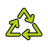 Recycle arrows symbol. Vector illustration graphic design Royalty Free Stock Images