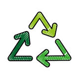 Recycle arrows symbol. Vector illustration graphic design Stock Photo