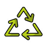 Recycle arrows symbol. Vector illustration icon design graphic Stock Photo