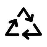 Recycle arrows symbol. Vector illustration icon design graphic Stock Photos
