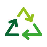 Recycle arrows symbol. Vector illustration icon design graphic Royalty Free Stock Photos