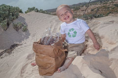 Recycle baby  Royalty Free Stock Photo