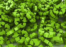 Recycle background. 3D render of green recycle symbols filling image Stock Photos