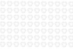 Recycle background. Plain white background with recycle symbol Stock Photography