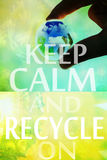 Recycle background Stock Images