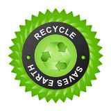 Recycle badge Stock Image