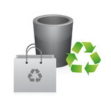 Recycle bag and trash illustration design Royalty Free Stock Photography
