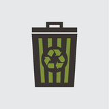 Recycle basket Royalty Free Stock Image