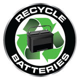 Recycle Batteries Royalty Free Stock Photos