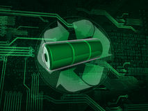 Recycle battery Royalty Free Stock Images