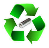 Recycle battery Stock Photo