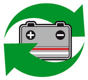 Recycle battery Royalty Free Stock Image