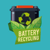 Recycle battery design. Stock Image
