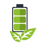 Recycle battery energy leaves eco Royalty Free Stock Photography