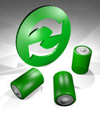 Recycle battery symbol Stock Photography