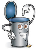 Recycle bin. Illustration of recycle bin made of steel royalty free illustration