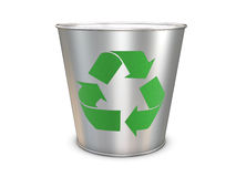 Recycle bin. With sign isolated on white background Royalty Free Stock Photography