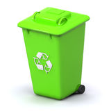 Recycle Bin. A Colourful 3d Rendered Recycle Bin Illustration Royalty Free Stock Photography