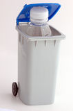 Recycle bin. With bottle water Royalty Free Stock Photo