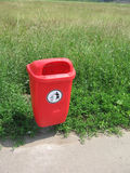Recycle bin. Outdoor Royalty Free Stock Photography