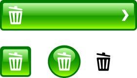 Recycle bin. button set. Stock Photos
