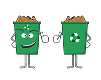 Recycle bin character Royalty Free Stock Photography