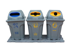 Recycle bin colorful for trash your garbage and seperate type ob Stock Images