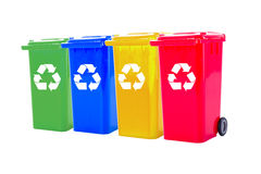 Recycle bin colorful Stock Images