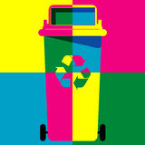Recycle bin colour art vector Royalty Free Stock Photo