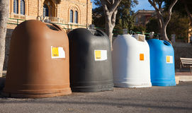 Recycle bin containers Stock Image