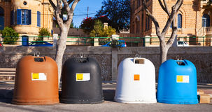 Recycle bin containers Stock Images
