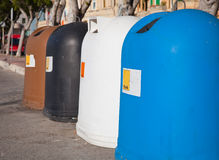 Recycle bin containers Royalty Free Stock Photos