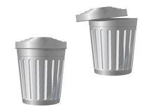 Recycle bin icon. In two variations isolated on white Royalty Free Stock Photos