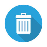 Recycle bin icon. Recycle bin  Glyphs Shadow Icon Stock Photo