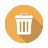Recycle bin icon. Recycle bin  Glyphs Shadow Icon Stock Photos