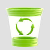 Recycle bin icon made of glass and plastic Royalty Free Stock Photos