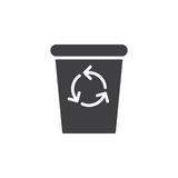 Recycle Bin icon vector, filled flat sign Stock Photography