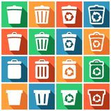 Recycle bin icons Stock Image