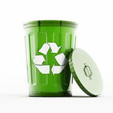 Recycle bin. Isolated on white background Royalty Free Stock Photo